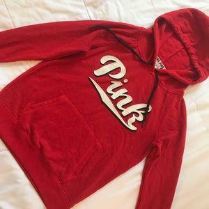 VS PINK red hoodie